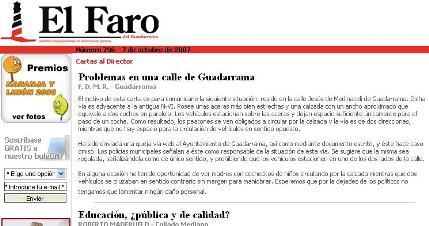 Agradecimientos a El Faro del Guadarrama